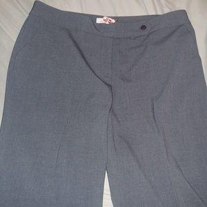 [Calvin klein]crisp pleated gray trouser pants